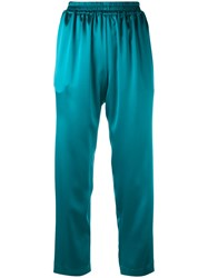 Gianluca Capannolo Relaxed Cropped Trousers Women Polyester Triacetate 40 Blue