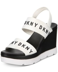 81789d49fc0 Dkny Cati Slingback Wedge Sandals Created For Macy s White