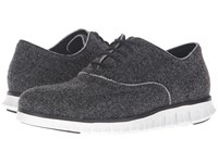 Cole Haan Zerogrand Short Wing Wool Closed Black Wool Optic White Men's Lace Up Casual Shoes