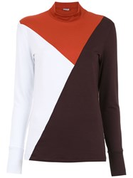 Tufi Duek Color Block Top Red