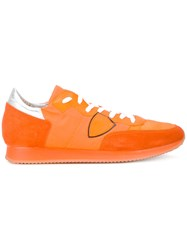 Philippe Model 'Tropez' Sneakers Men Cotton Leather Suede Rubber 45 Yellow Orange