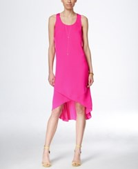 Inc International Concepts Sleeveless High Low Dress Only At Macy's Intense Pink