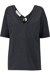 Marni Open Back Cotton Jersey Top Anthracite