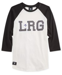 Lrg Men's Graphic Print Logo Raglan Sleeve T Shirt Black