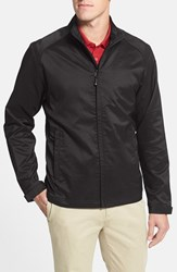 Men's Big And Tall Cutter And Buck 'Blakely' Weathertec Wind And Water Resistant Full Zip Jacket Black