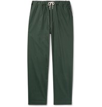 Albam Tapered Cotton Ripstop Drawstring Trousers Green