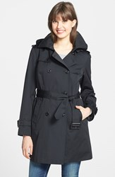 Petite Women's London Fog Heritage Trench Coat With Detachable Liner Black