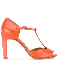 Chie Mihara 'Mika' Sandals Women Leather Rubber 36 Yellow Orange