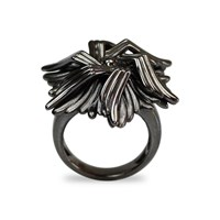Bellus Domina Geometric Sea Flower Ring Grey