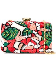Elie Saab Sequin Embellished Floral Clutch Multicolour