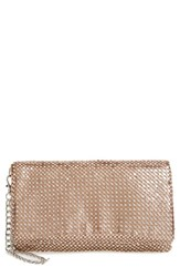 Nordstrom Crystal Mesh Wristlet Metallic Rose Gold