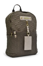 Adrienne Vittadini Dark Clay Quilted Lightweight Backpack Gray