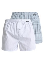 Schiesser 2 Pack Boxer Shorts Turquoise
