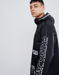 e8673dd73b8 Aape By A Bathing Ape Overhead Jacket With Sleeve Print In Black