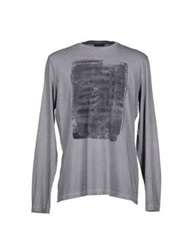 Trussardi Jeans T Shirts Dove Grey