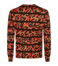 Dsquared2 Camouflage Stripe Jumper Male Orange