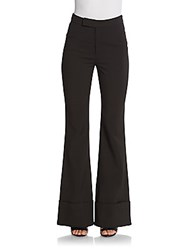 Nicholas Paris Cuffed Flare Ponte Pants Black