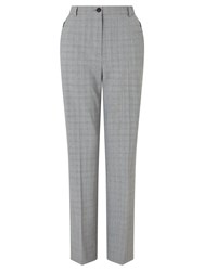 Gardeur Karen Check Trousers Black White