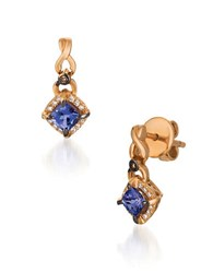 Levian Rose Gold Chocolatier Drop Earrings