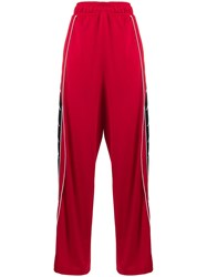 Faith Connexion X Kappa Side Panel Track Pants Red