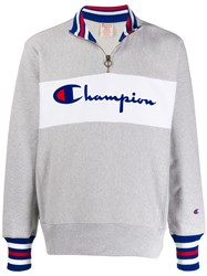 Champion Half Zip Logo Sweatshirt 60