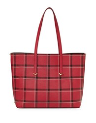 Botkier Bowery Tote Bag Chili Plaid