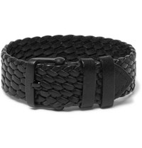 Tom Ford Woven Leather Watch Strap Black
