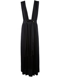 Lanvin Cupro Long Skirt Black