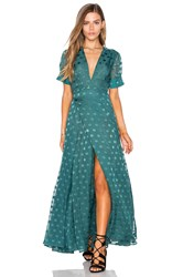 Tularosa Jace Wrap Dress Teal