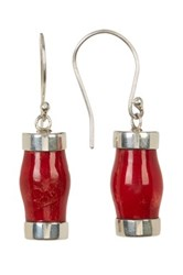 Exex Design Jewelry Sterling Silver Malaga Red Coral Earrings