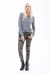 Forever 21 Camouflage Cargo Pants Olive Brown