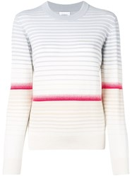 Barrie Colour Block Striped Sweater Neutrals