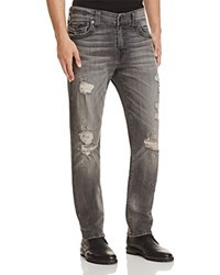 True Religion Geno Straight Fit Jeans In Drum Grey Dfum Grey