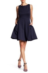 Taylor Retro Classic Fit And Flare Dress Blue