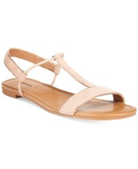 Styleandco. Style Co. Kristee T Strap Flat Sandals Only At Macy's Women's Shoes Pink