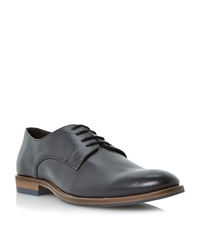 Dune Brummie Lace Up Plain Almond Toe Gibson Black