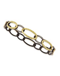 Armenta Midnight And Yellow Gold Circle Link Bangle With Diamonds Unassigned