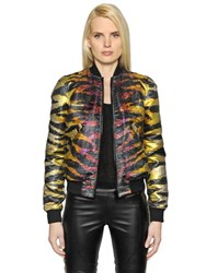 Faith Connexion Reversible Tiger Jacquard Bomber Jacket