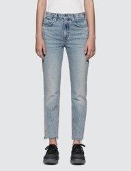 Alexander Wang.T Cult Side Zip Vintage Wash Indigo Jeans Blue