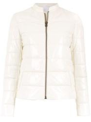 Spacenk Nk Leather Puffer Jacket White