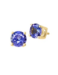 Effy Tanzanite And 14K Yellow Gold Stud Earrings Tanzanite Gold