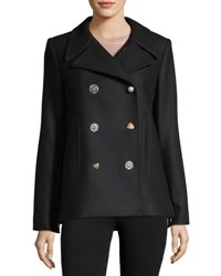 Adam By Adam Lippes Lindas Double Breasted Pea Coat Black