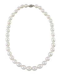 Belpearl 14K Graduated White South Sea Pearl Necklace 18 L