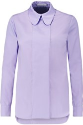 Carven Cotton Blend Poplin Shirt Lavender