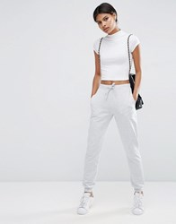 Asos Basic Joggers With Tie Grey