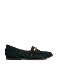 New Kid Elma Slip Black Flat Shoe