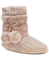 Muk Luks Delanie Boot Slippers Tan