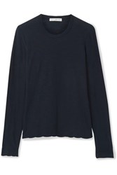 James Perse Slub Supima Cotton Jersey Top Midnight Blue