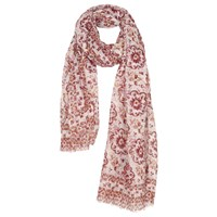 Fat Face Floral Geo Tile Print Scarf Cherry Blossom Multi