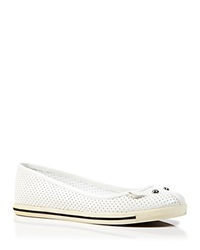 Marc By Marc Jacobs Ballet Flats Mouse Constructed Perforated Talc